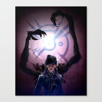 dishonored Canvas Prints featuring Long Live the Empress by animatenowsleeplater