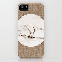 Scots Pine Paper Bag Sepia iPhone Case