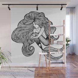 Sweet Shauna Mermaid Drawing  Wall Mural