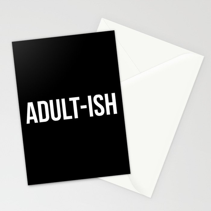 Adult-ish Funny Quote Stationery Cards