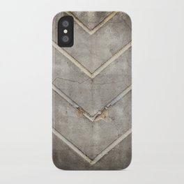 Concrete Chevron iPhone Case