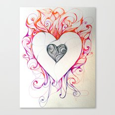 Heart/Fire Canvas Print