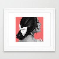 pocahontas Framed Art Prints featuring Pocahontas by kevinci