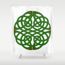 The Book of Kells Medallion Shower Curtain