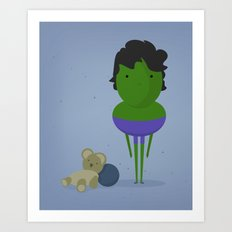 My angry hero! Art Print