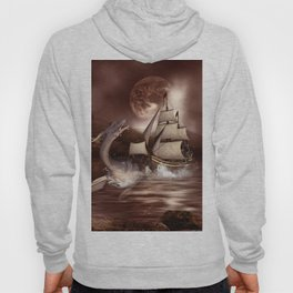 Awesome seadragon with ship Hoody