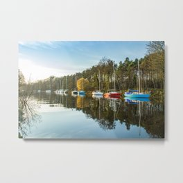 Boats by the River Metal Print