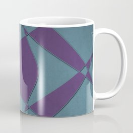 Wings and Sails - Purple and Light Blue Coffee Mug