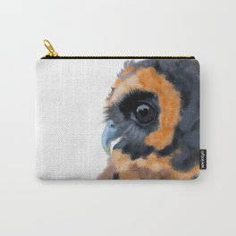 Brown Wood Owl (on white) Carry-All Pouch