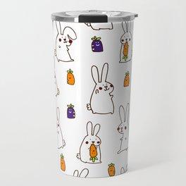 Rabbit on field Travel Mug