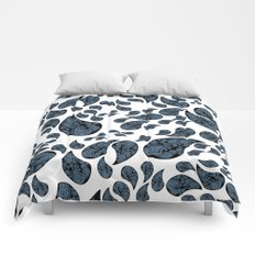 Paisley turquoise, black and white. Comforters