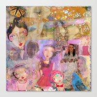 klimt Canvas Prints featuring Klimt by sara aguiar