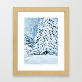 Secret snow garden Framed Art Print