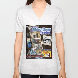 Video Game Trader #32 Cover Design Unisex V-Neck