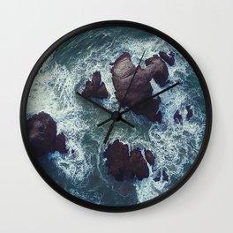 Raging Sea Wall Clock