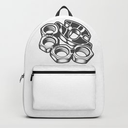 "Fashion Modern Design Print ""Brass Knuckles""! Rap, Hip Hop, Rock style and more Backpack"
