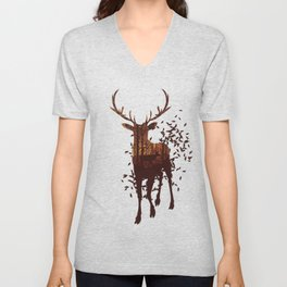 Autumn Deer Unisex V-Neck