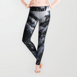 Dark Evergreen Snow Forest (Color) Leggings