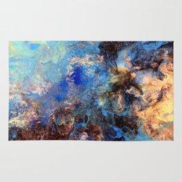 Pacific Lagoon - Original Abstract Art by Vinn Wong Rug