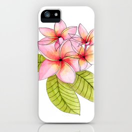 Pretty Pink Plumerias iPhone Case