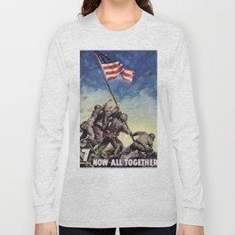 Raising the Flag on Iwo Jima Long Sleeve T-shirt