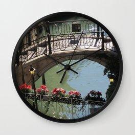 Bridges on Rio de le Procuratie in Venice Wall Clock