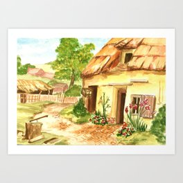 European Countryside Art Print