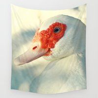 duck Wall Tapestries featuring Duck by Falko Follert Art-FF77