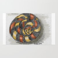 snake Area & Throw Rugs featuring Snake by Michelle Behar