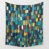 klimt Wall Tapestries featuring New Klimt  by Angela Capacchione
