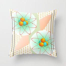Mid-Century Modern Art Atomic 1.0 Throw Pillow