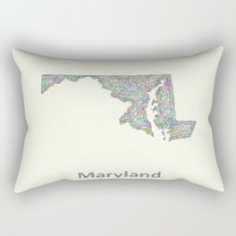 Maryland map Rectangular Pillow