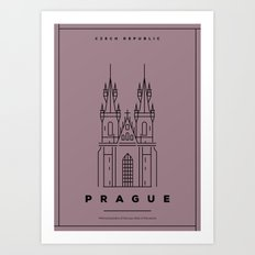 Minimal Prague City Poster Art Print
