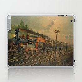 Night Scene on the NY Central Railroad (Currier & Ives) Laptop & iPad Skin