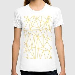 Geometric Cobweb (Light Orange & White Pattern) T-shirt