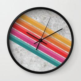 Retro Pattern - Downhill Concrete #881 Wall Clock