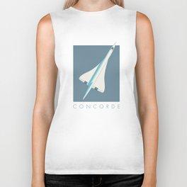 Concorde Supersonic Jet Airliner - Slate Biker Tank