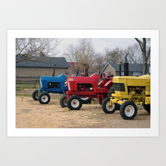 Tractors, Queens, 2013. Art Print