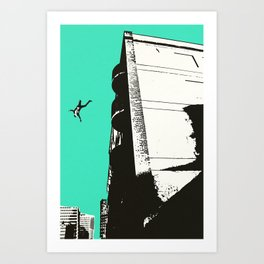 Dream Sequence Turquoise Art Print