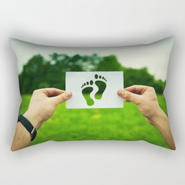 bare feet prints Rectangular Pillow