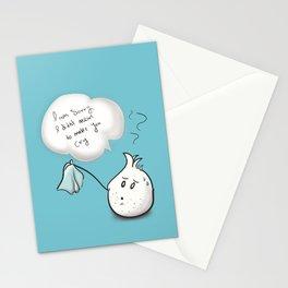 i am sorry - onion  Stationery Cards