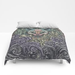 Bastet on the field Comforters