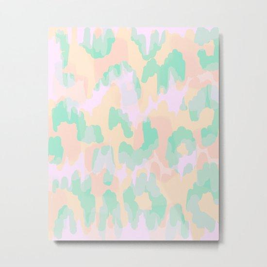 Tamsin - Soft Abstract Metal Print
