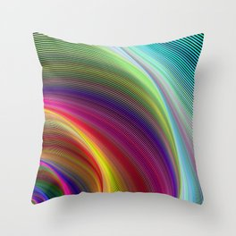 Vortex of colors Throw Pillow