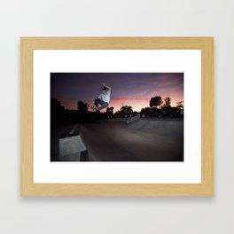 Zander Gabriel. Frontside Tuck Knee Framed Art Print