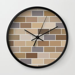 Kinda Brickish Wall Clock