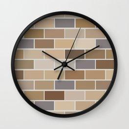 Kinda Brickish Wall Clock