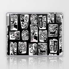 tribal in black and white Laptop & iPad Skin
