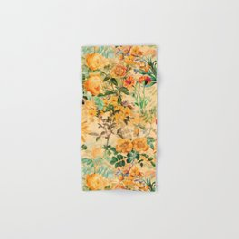 Vintage & Shabby Chic -  Sunny Gold Botanical Flowers Summer Day Hand & Bath Towel