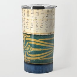 Antique Book Textures Travel Mug